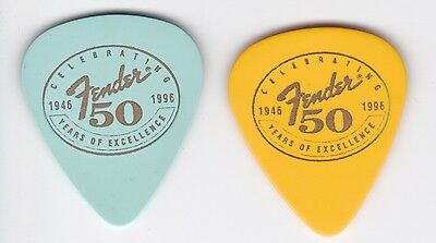FENDER 50th ANNIVERSARY YELLOW GUITAR PICK 1946-1996