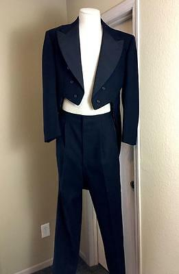Vintage RARE 1930's AFTER SIX by Rudofker tuxedo tailcoat suit tails M 40/42