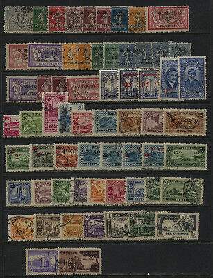 Syria 1921 - 1940 Mostly Used Collection, Airmails CV $50+