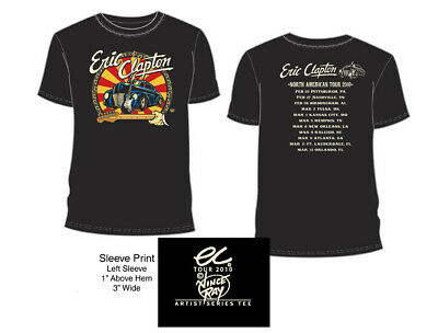 "Eric Clapton 2010 Tour T-Shirt Black ""car"" Xl"