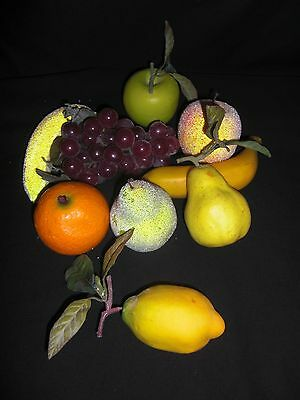 9 X  Mixed Pieces Artificial Fruit Realistic