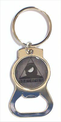 Deftones Triangle Image Chrome Metal Bottle Opener Key Chain New Official