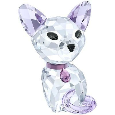 Swarovski #5223603 Fiona The Siamese Kitten Brand Nib Pink Purple Clear Crystals