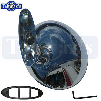 68-69 Cutlass 442 68-70 88 & 98 Chrome Round Outside Door Mirror Standard RH