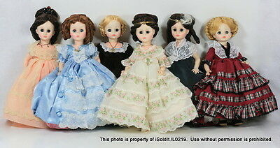 NEW NIB LOT 6 MADAME ALEXANDER FIRST LADY DOLL COLLECTION US Ladies SERIES II 2