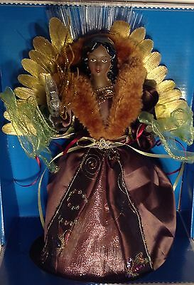 "12"" African American Led Fiber Optic Angel with Dove Christmas Tree Topper"