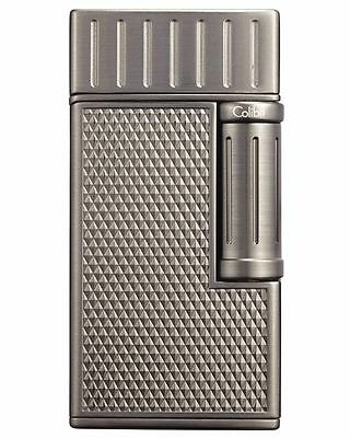 Colibri Julius LI221C9 Traditional Flame Cigar Lighter Gunmetal Leather Case