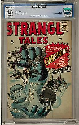 Strange Tales #80 CBCS 4.5 (OW-W) Conserved Small Tear Seal to Cover