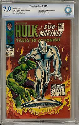 Tales to Astonish #93 CBCS 7.0 (W) Hulk vs Silver Surfer