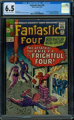 Fantastic Four 36 CGC 6.5 - OW/W Pages - 1st Medusa - 1st Frightful Four