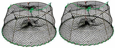 """2-Pack of KUFA Tower style prawn trap Stretched Mesh size:1-1/8"""" CT76x2"""