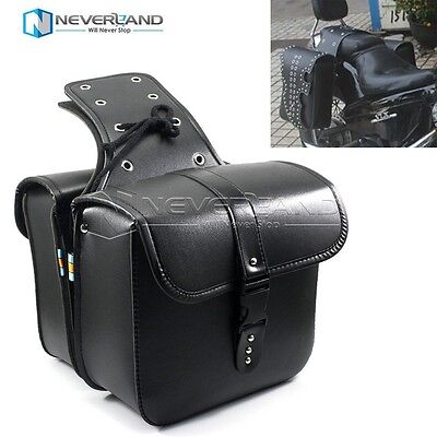 Universal Motorcycle Saddle bags Cruiser Side Storage Tool Pouches For Harley