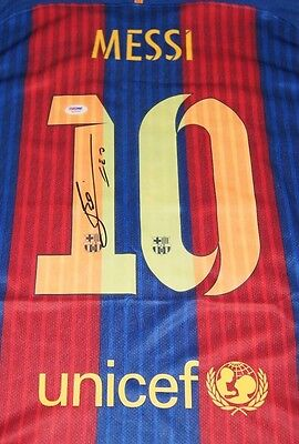 Lionel Messi Barcelona Signed Autographed Soccer Jersey Psa/dna Loa 6A70560