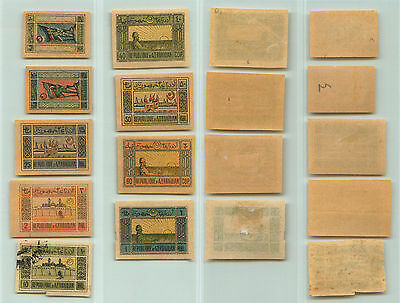 Azerbaijan, 1919, SC 1-6, 8-10, mint or used. rta3185