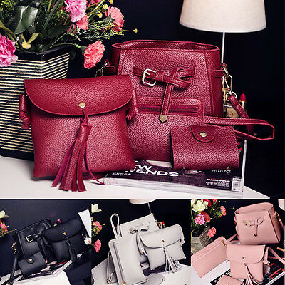 4pcs/Set Women Fashion Handbag Shoulder Bags Tote Bag Crossbody Messenger Purses
