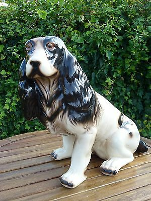 "Vintage Beautiful Very Large Spaniel  Dog Height 16"" ( 41 cm )"