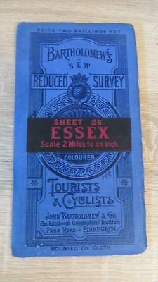 "c1920 ""BARTHOLOMEW'S MAP OF ESSEX - SHEET 26"" 1/2 INCH TO ONE MILE"