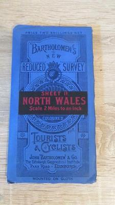 "c1920 ""BARTHOLOMEW'S MAP OF NORTH WALES - SHEET 11"" 1/2 INCH TO ONE MILE"