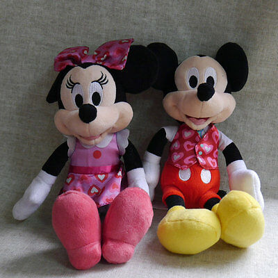 Set of  Mickey Minnie mouse Floweret edition Plush doll 8 inch tall