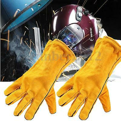 Leather Welding Finger Gloves Heat Shield Cover Protecting Hand Safety Wear