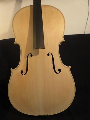 Hand made Unfinished Strad style SONG Brand 7/8 cello,white flame cello  #11463