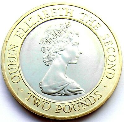 Jersey Elizabeth II 1997  Holographic Two Pounds BU