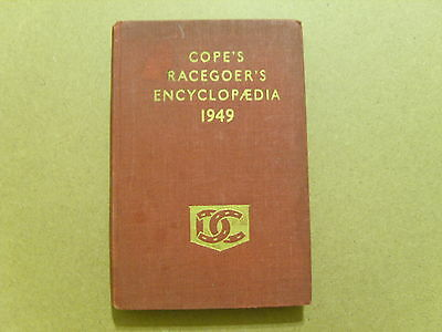 1949 Cope's Racegoers Encyclopedia - Vintage Horse Racing Information Book