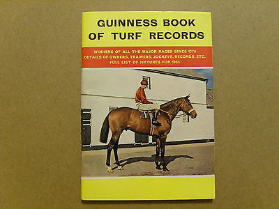 1964 Guinness Book Of Turf Records - Pocket Size Record Book