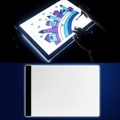 A4 Thin LED Tattoo Light Box Table Drawing Tracing Pad Stencil Board Supply +USB