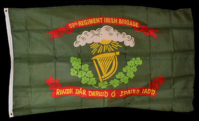 Civil War Union Irish Gaelic Celtic Ireland Irish Brigade Regimental Flag 5 x 3