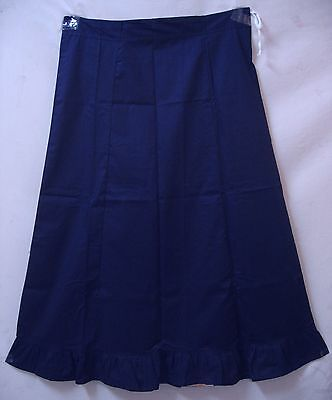 Navy Blue Pure Cotton Frill Petticoat Skirt Also Buy Top Tops Blouse Size #DE6GM