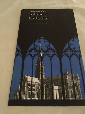 Make Your Own Salisbury Cathedral London Rare Vintage Paper Cut Out Model