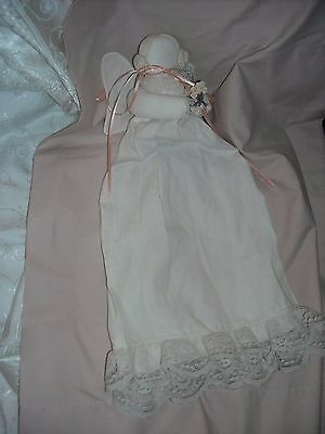 shabby n chic angel bed doll amish made from vintage pillow case boudoir cloth