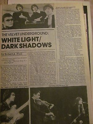 The Velvet Underground, Two Page Vintage Clipping