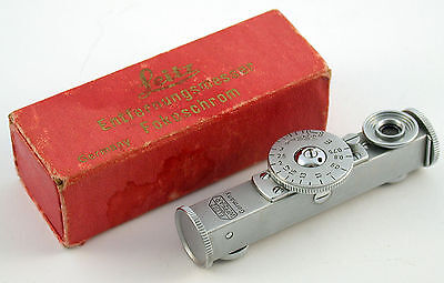LEICA Leitz rangefinder Entfernungs-Messer Fokos FOKOSCHROM original red box top