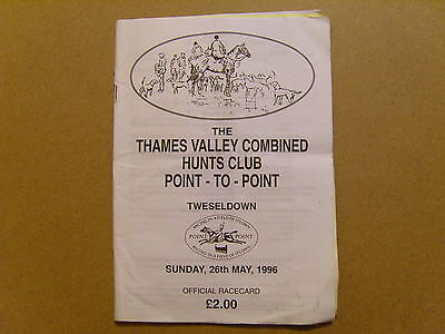 26/05/1996 The Thames Valley Combined Hunt (Tweseldown) Point To Point Race Card