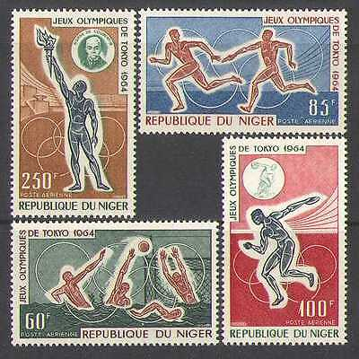 Niger 1964 Olympic Games/Torch/Sport 4v set (n23631)