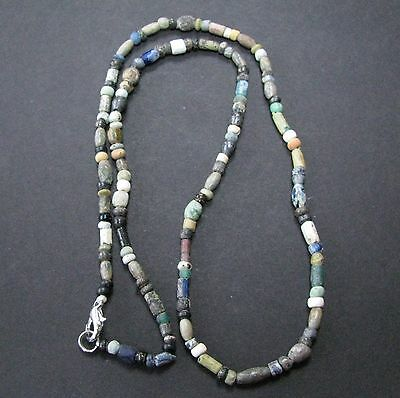 NILE  Ancient Egyptian Roman Period Glass Bead Amulet Necklace ca 100 BC