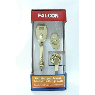 Ambition Dream Double Cylinder LL-LL LB Handleset in Bright Brass Falcon 11865