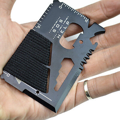 14 in 1 Multi Purpose Pocket Credit Card Survival Knife Outdoor Camping Tool RB2