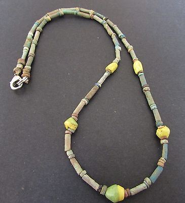 NILE  Ancient Egyptian Seed Amulet Mummy Bead Necklace ca 1000 BC