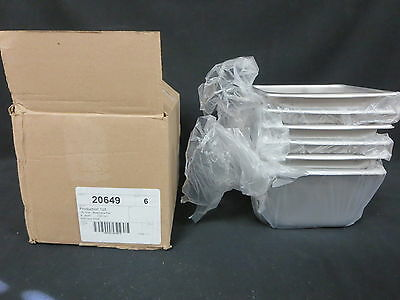 """Lot Of 6 1/6 Size Stainless Steel Steamtable Hotel Pans - 4"""" Deep"""