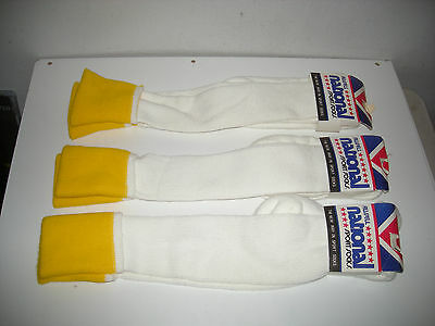 3 Pairs of VINTAGE MADE IN USA RUSSELL NATIONAL SPORTS TUBE SOCKS Orlon