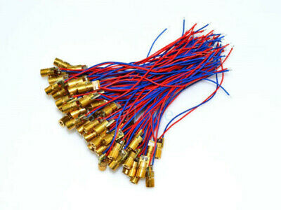 10pcs New 650nm 6mm 3V 5mW Tube Laser Dot Diode Module Copper Head With Red Dot
