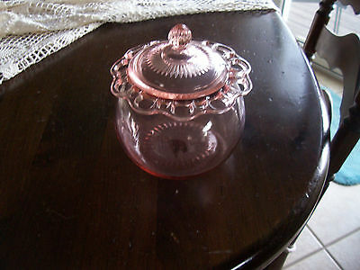 Old Colony Lace Edge pink covered cookie jar