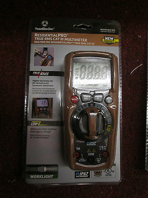 Southwire ResidentialPRO True RMS Cat III Multimeter Pro Model #13070T NEW