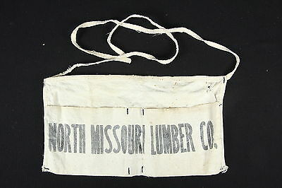 North Missouri Lumber Co. Vintage Nail Apron  Advertiser Canvas Waist-Tie