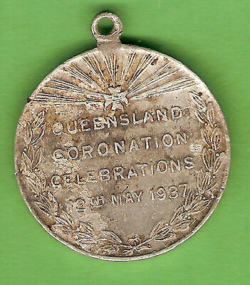 #d257. 1937  Queensland   Coronation Medal