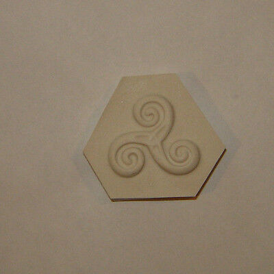 Celtic Triskele Triskelion Pendant Polymer Clay Push Mold DIY Jewelry