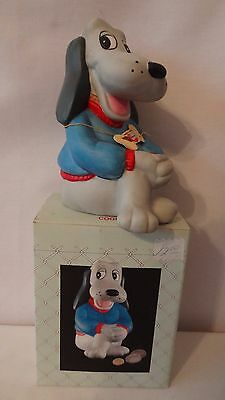 United Silver 1987 Pound Puppy Porcelain Money Bank With Tag MIB #H897.